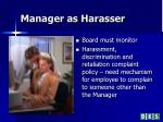 manager as harasser