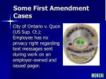 some first amendment cases