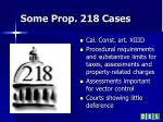 some prop 218 cases