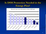 is dsm promotion needed in the energy plan