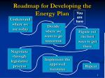 roadmap for developing the energy plan