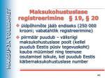 maksukohustuslase registreerimine 19 20