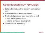 kantian evaluation 2 nd formulation