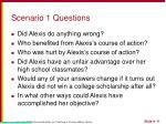 scenario 1 questions