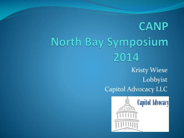 canp north bay symposium 2014 n.