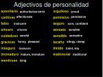 adjectivos de personalidad