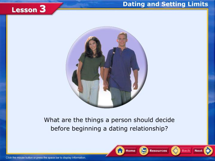 dating and setting limits n.