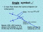 angle symbol