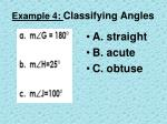 example 4 classifying angles