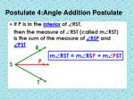 postulate 4 angle addition postulate
