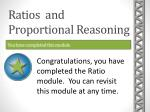 ratios and proportional reasoning