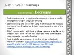 scale drawings decrease