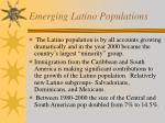 emerging latino populations