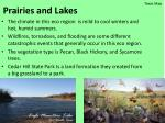 prairies and lakes