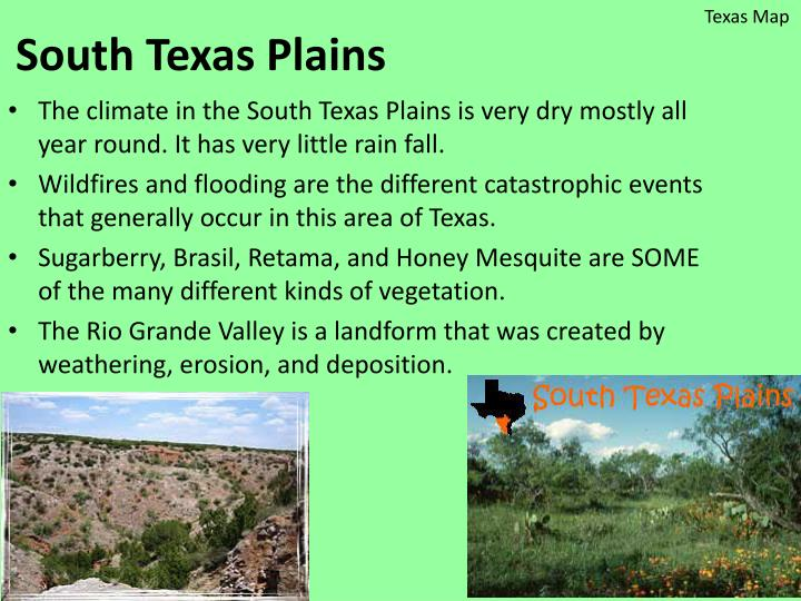 Map Of Texas Landforms.Ppt Texas Eco Regions And Catastrophic Events Project Powerpoint