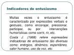 indicadores de entusiasmo