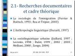 2 1 recherches documentaires et cadre th orique