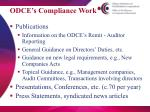 odce s compliance work