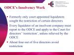 odce s insolvency work