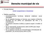 derecho municipal de v a