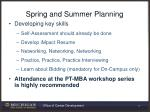 spring and summer planning