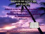 dios es mi luz y mi salvacion