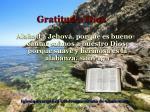gratitud a dios