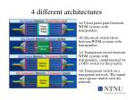 4 different architectures