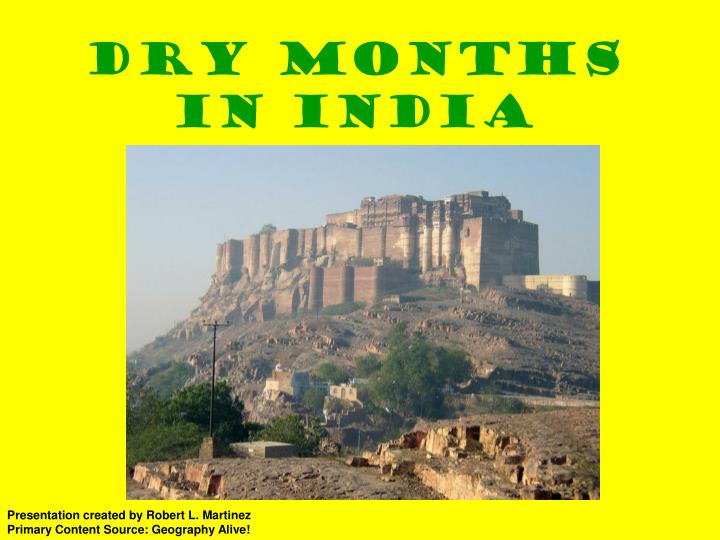 dry months in india n.