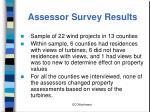assessor survey results