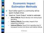 economic impact estimation methods