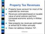 property tax revenues