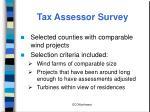 tax assessor survey
