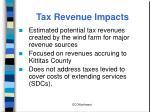 tax revenue impacts