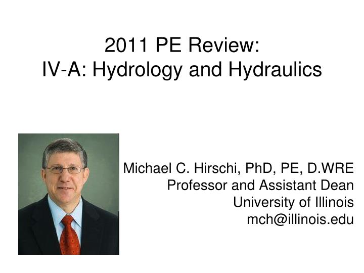 2011 pe review iv a hydrology and hydraulics n.