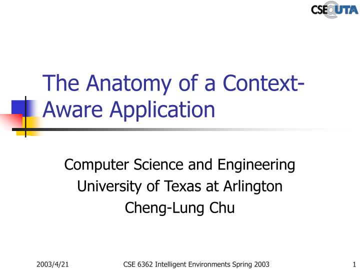 the anatomy of a context aware application n.