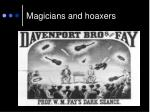 magicians and hoaxers