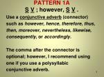 pattern 1a s v however s v
