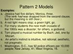 pattern 2 models