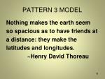 pattern 3 model
