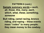 pattern 6 cont