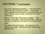 pattern 7 examples