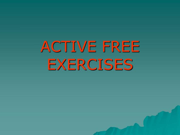 active free exercises n.