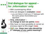 2nd dialogue for appeal for information only