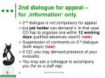 2nd dialogue for appeal for information only1