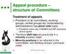 appeal procedure structure of committees1