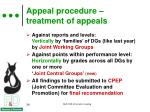 appeal procedure treatment of appeals1