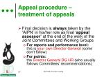 appeal procedure treatment of appeals2