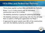 183a bike and pedestrian pathway