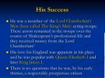 his success1
